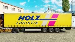 Скин Holz Logistik на шторный полуприцеп