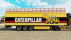 Скин Caterpillar v2 на шторный полуприцеп