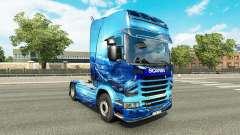Скин Light Blue на тягач Scania