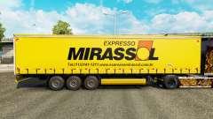Скин Mirassol Logistic на шторный полуприцеп