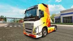 Скин Flame на тягач Volvo