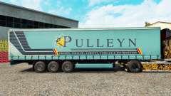 Скин Pulleyn на шторный полуприцеп для Euro Truck Simulator 2