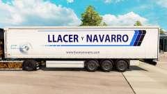 Скин Llacer y Navarro на шторный полуприцеп