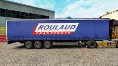 Скин Roulaud Transports на шторный полуприцеп