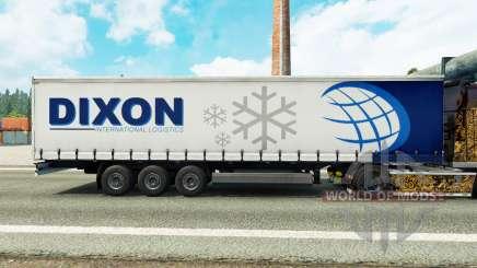 Скин Dixon на шторный полуприцеп для Euro Truck Simulator 2
