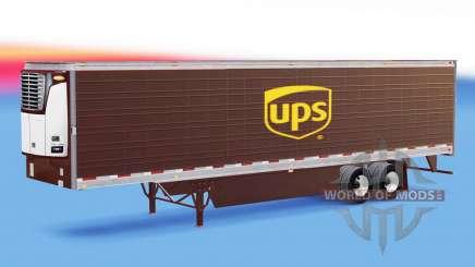 Скин UPS на рефрижераторный полуприцеп для American Truck Simulator