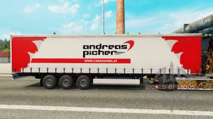 Скин Andreas Picher на шторный полуприцеп для Euro Truck Simulator 2