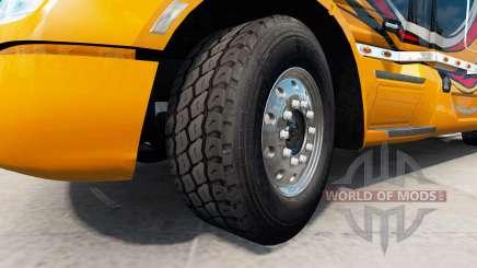 Новые колёсные диски и покрышки v1.2.1 для American Truck Simulator
