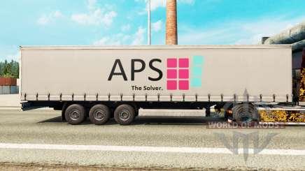 Скин APS на шторный полуприцеп для Euro Truck Simulator 2