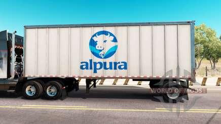 Скин Alpura на цельнометаллический полуприцеп для American Truck Simulator