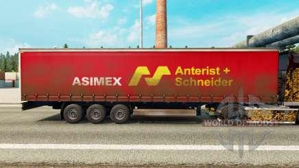 Скин Asimex на шторный полуприцеп для Euro Truck Simulator 2