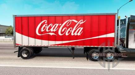 Скин Coca-Cola на цельнометаллический полуприцеп для American Truck Simulator