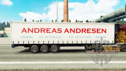Скин Andreas Andresen на шторный полуприцеп для Euro Truck Simulator 2