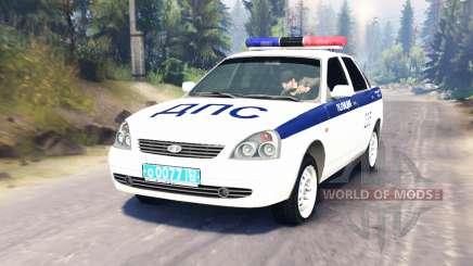 LADA Priora Полиция ДПС (ВАЗ-2170) для Spin Tires
