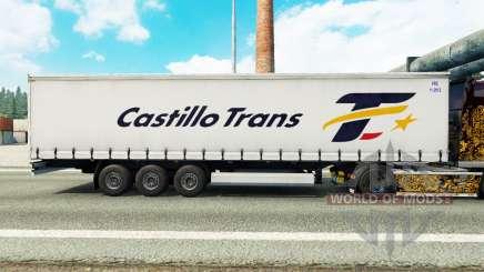 Скин Castillo Trans на шторный полуприцеп для Euro Truck Simulator 2