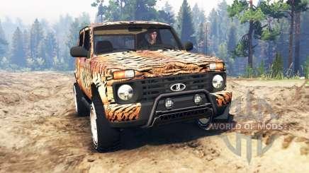 ВАЗ-21214 (Lada 4x4 Urban) тигр для Spin Tires