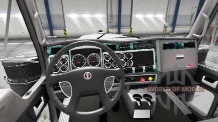 Интерьер Wood для Kenworth W900 для American Truck Simulator