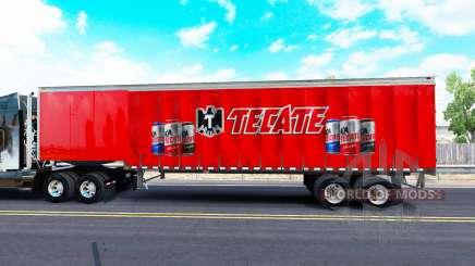 Скин Tecate на шторный полуприцеп для American Truck Simulator