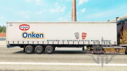 Скин Dr.Oetker Onken на шторный полуприцеп для Euro Truck Simulator 2