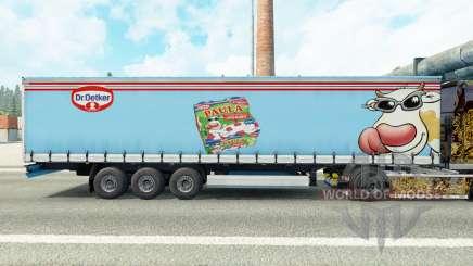 Скин Dr.Oetker Paula на шторный полуприцеп для Euro Truck Simulator 2