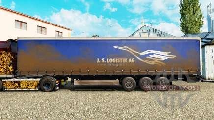 Скин J.S.Logistik AG на шторный полуприцеп для Euro Truck Simulator 2