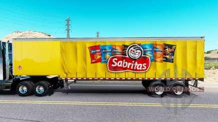 Скин Sabritas на шторный полуприцеп для American Truck Simulator