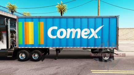 Скин Comex на цельнометаллический полуприцеп для American Truck Simulator