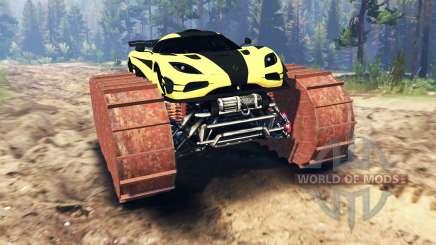 Koenigsegg One:1 prototype для Spin Tires