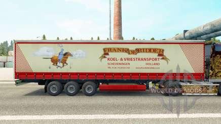 Скин Frank de Ridder на шторный полуприцеп для Euro Truck Simulator 2