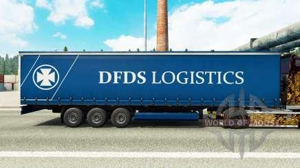 Скин DFDS Logistics на шторный полуприцеп для Euro Truck Simulator 2