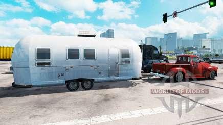Жилой прицеп Airstream в трафике для American Truck Simulator