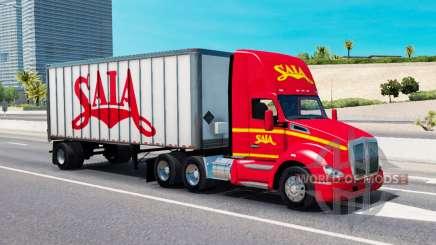 Грузовой трафик в окрасах транспортных компаний для American Truck Simulator
