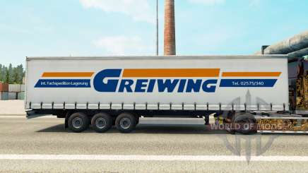 Скин Greiwing на шторный полуприцеп для Euro Truck Simulator 2
