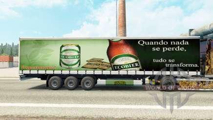 Скин Ecobier на шторный полуприцеп для Euro Truck Simulator 2