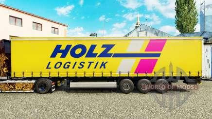 Скин Holz Logistik на шторный полуприцеп для Euro Truck Simulator 2