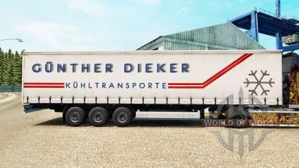 Скин Gunther Dieker на шторный полуприцеп для Euro Truck Simulator 2