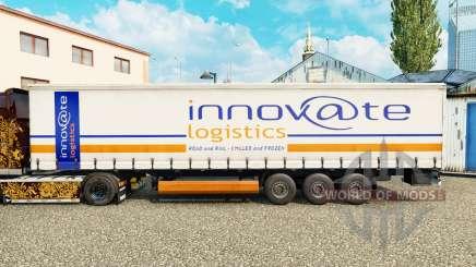 Скин Innovate Logistics на шторный полуприцеп для Euro Truck Simulator 2