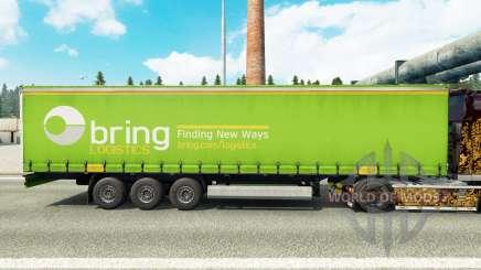 Скин Bring Logistics на шторный полуприцеп для Euro Truck Simulator 2