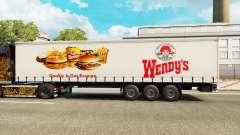 Скин Wendys на шторный полуприцеп