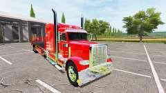Peterbilt 388 flatbed auto load