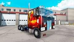 Скин Dragon Fire на тягач Peterbilt 352
