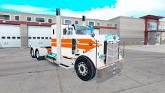 Скин Orange stripes на тягач Peterbilt 351