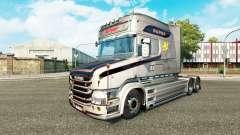 Скин Vabis V8 Metallic на тягач Scania T