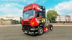 Скин NASCAR на тягач Scania