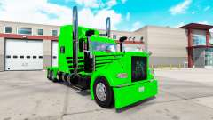 Скин Green Envy Express на тягач Peterbilt 389
