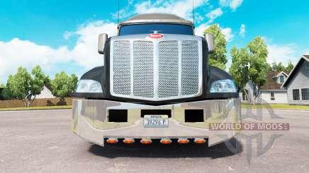 Хромированный бампер на тягач Peterbilt 579 для American Truck Simulator
