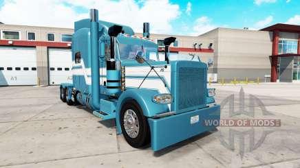 Скин Blue Ice на тягач Peterbilt 389 для American Truck Simulator