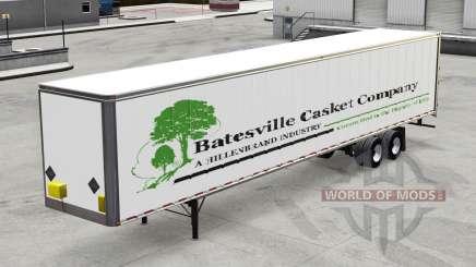 Полуприцеп Batesville Casket v1.2 для American Truck Simulator