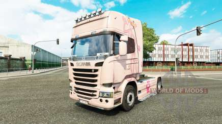 Скин Pink Panter на тягач Scania для Euro Truck Simulator 2