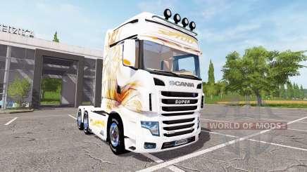 Scania R700 Evo gold blanc для Farming Simulator 2017